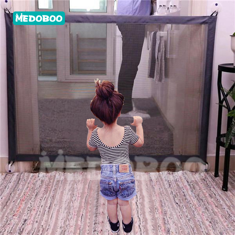 Medoboo Portable Baby Fence Safe Guard Protection Folding Baby Barrier Fence Kids Children Isolation Net For Pets *