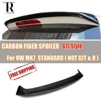 For Volkswagen MK7 Golf 7 Standard Carbon Fiber Rear Roof Wing Spoiler GT Style ( not for GT I & R line ) 2014 2017 not 7.5