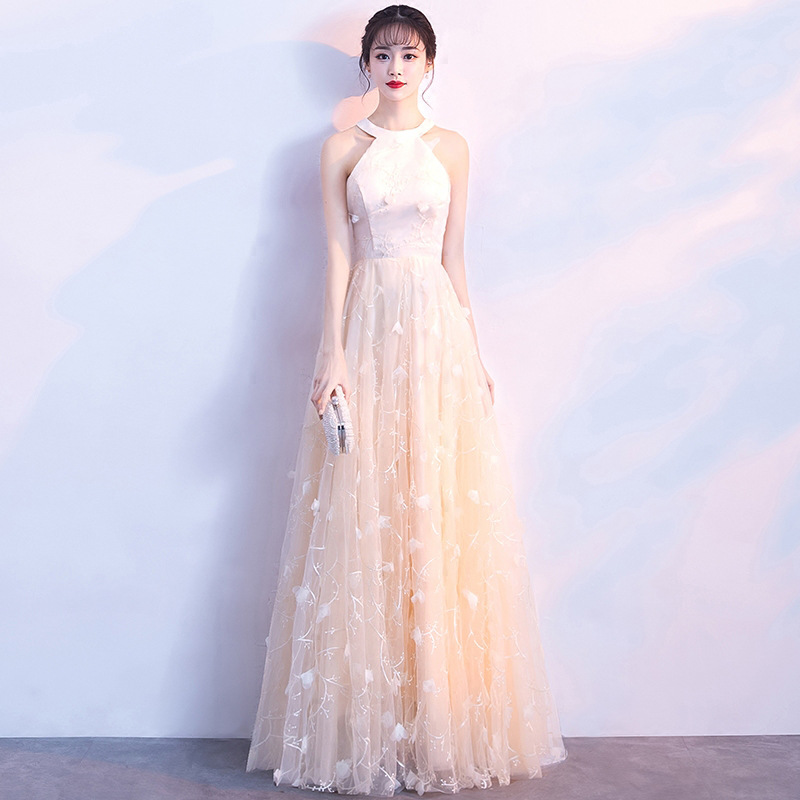 Mingli Tengda 2018 New Sexy Lace O Neck   Bridesmaid     Dresses   Elegant Simple   Dress   Woman for Wedding Party vestidos de madrinha