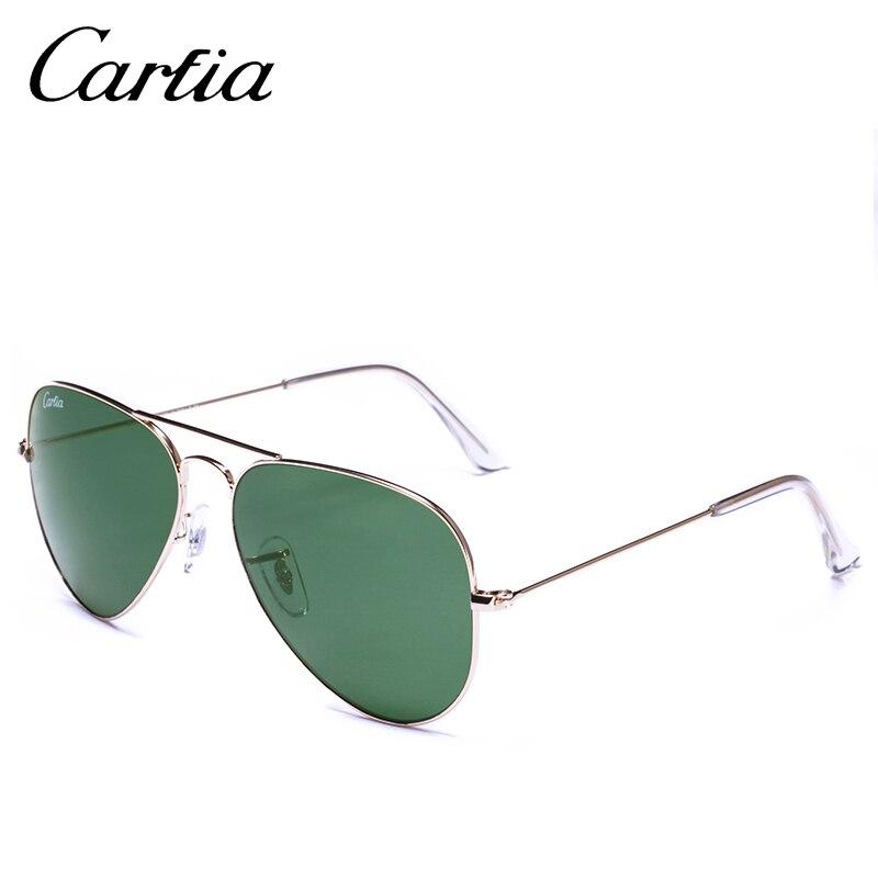 Green Frame Fashion Glasses : Retro classical sunglasses CA 3025 pilot style gold frame ...