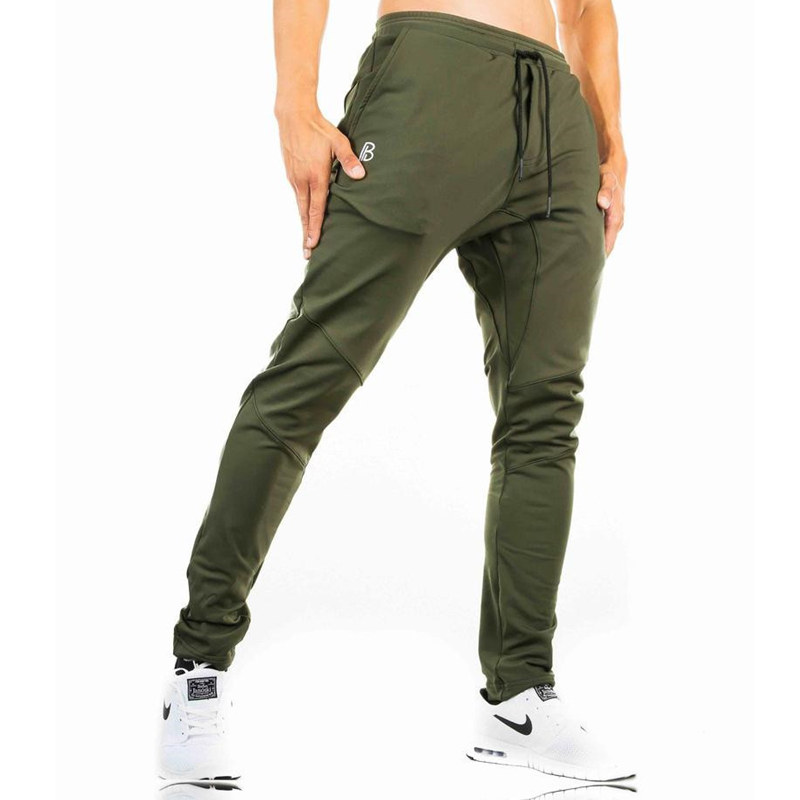 Men Cotton Drawstring Sweatpants Casual Fashion Army Green Pant Gyms Fitness Workout Slim Trousers Man Jogger Brand Pencil Pants in Skinny Pants from Men 39 s Clothing