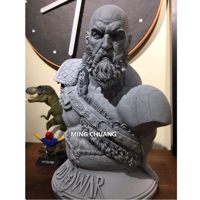 God Of War արձան Kratos 1: 3 Ghost Of Sparta Bust Son Zeus - Խաղային արձանիկներ - Լուսանկար 2