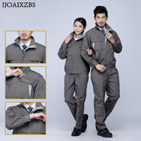 Work Overalls Men Women Protective Safety Coverall Repairman Set Strap Trousers Working Uniforms Plus Size Long Sleeve Coveralls