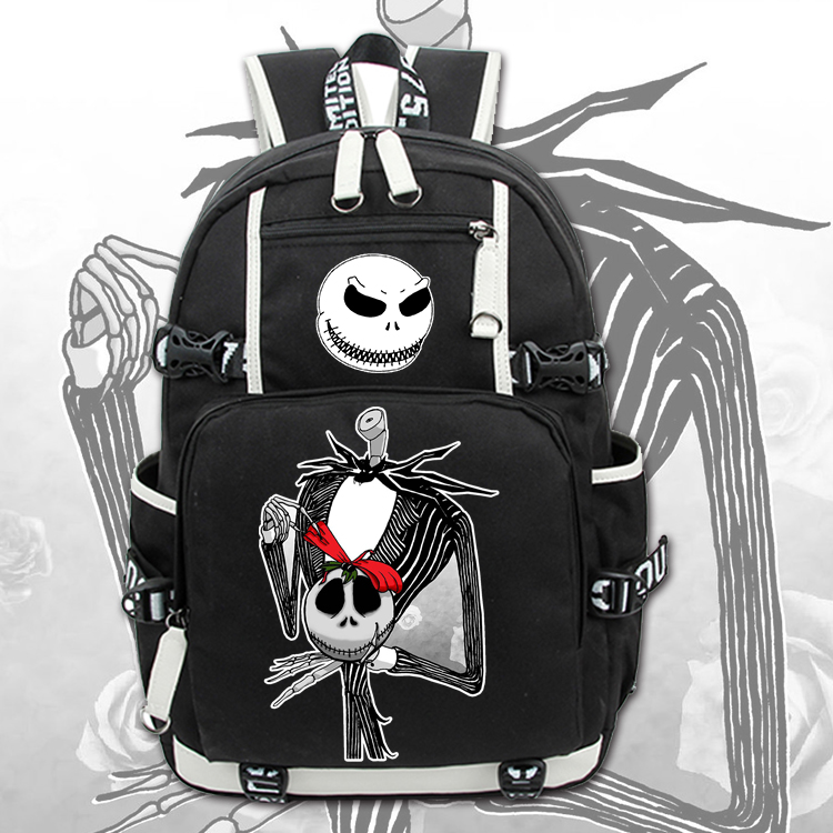 The Nightmare Before Christmas Jack Backpack Canvas Bag School Bags for Boys Girls Casual Schoolbag Knapsack Laptop Bags womens printed halloween leggings the nightmare before christmas cosplay leggin jack and sally slim design workout girls pants