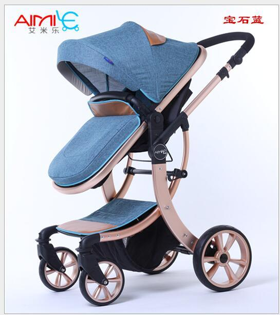 Free Shipping Baby stroller Fashion Carriage Adjustable sleeping basket Suit for Newborn Portable Pram