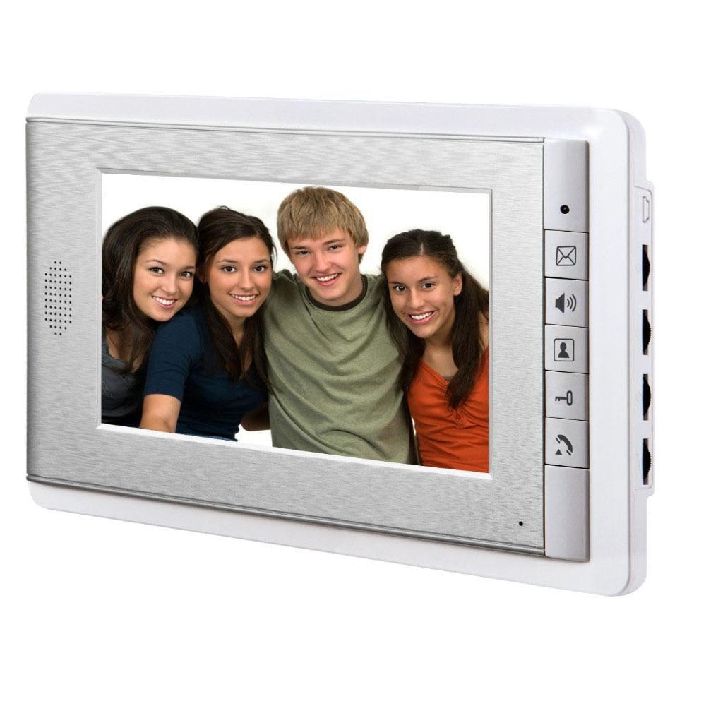 7 Inch Wired Color LCD Screen 2-way Hands Free Video Intercom,Support Monitoring, Unlock, Dual Way Door Intercom