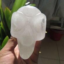AAA+369g Crystal Skull Healing Natural Clear Quartz Crystal Quartz Skull цена