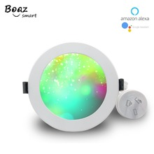 Boazsmart WiFi Smart LED Downlight AU plug 3.5 inch RGBW Color Changing Bulb Alexa Google Home Voice Control APP Control by Tuya