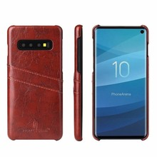 Case For Samsung note S 20 Ultra 10 10e 9 8 plus S7 Edge Funda Etui Luxury Leather Phone Back card Cover accessories Coque Shell