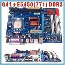 with E5450 CPU NEW Micro-ATX intergrated LGA 771 G41 Motherboard