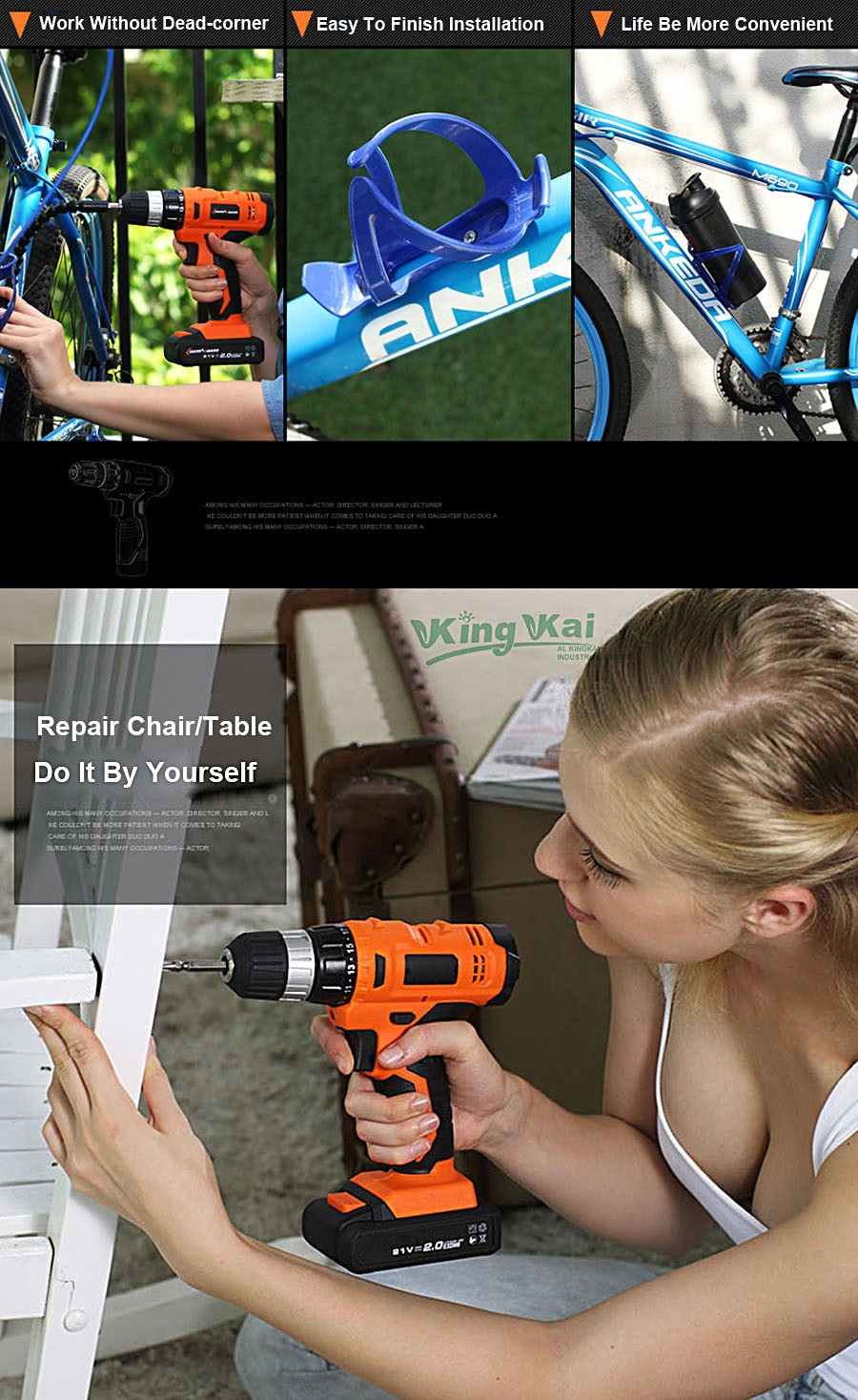 Cordless Lithium Battery Electric Drill-08