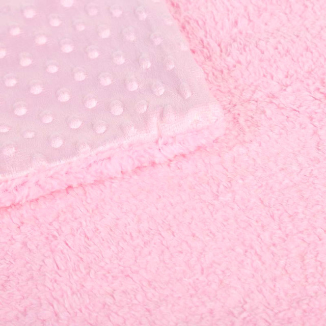 Baby Blanket & Swaddling Newborn Thermal Soft Fleece Blanket Solid Bedding Set Cotton Quilt