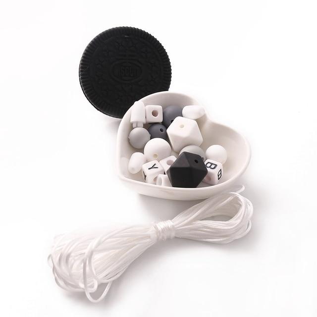 1 Набор силиконовых прорезывателей бисквита DIY Прорезыватели для зубов силиконовые шестигранные круглые жевательные детские подарки для душа Amigurumi мягкие детские трофеи