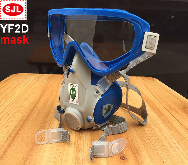 SJL YF2 Respirator Mask Goggles One Type Respirator Gas Mask Painting Painting Face Mask Face Mask SJL/3M Filter