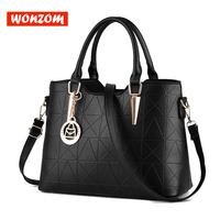 WONZOM 2018 New Arrival 10 Candy Colors Women Bags Fashion Simple Solid Lattice Lady Handbags Shoulder