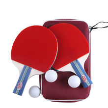 Meilleur vendeur 2 pcs Double poisson 236A tennis de table raquette raquette tennis de table paddle pingpong chauve-souris attaque rapide boucle avec 3 balles
