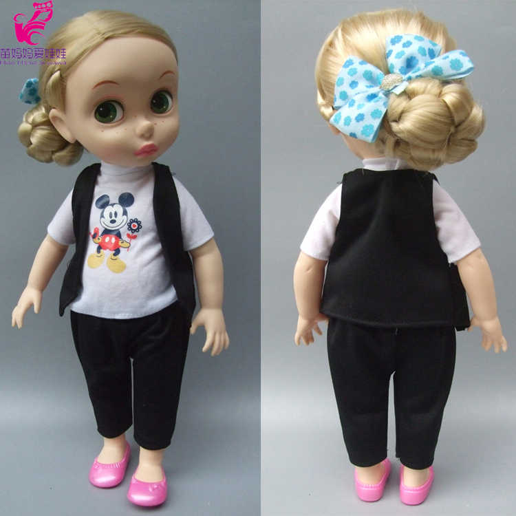 "Doll clothes set vest shirt pants for 16"" inch 40CM Sharon doll clothese dress for Cinderella Princess doll"