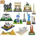 2016 Nuevo Conjunto de Bloques de Construcción A Gran Escala la arquitectura histórica Francés Arco Triunfal Estatua de la Libertad Modelo 3D Con