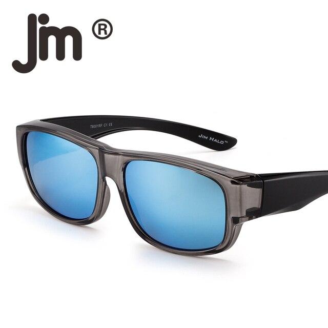2f8401596 JM Polarized Fit Over Sunglasses Mirrored Oversize Wear Over Glasses Men  Women