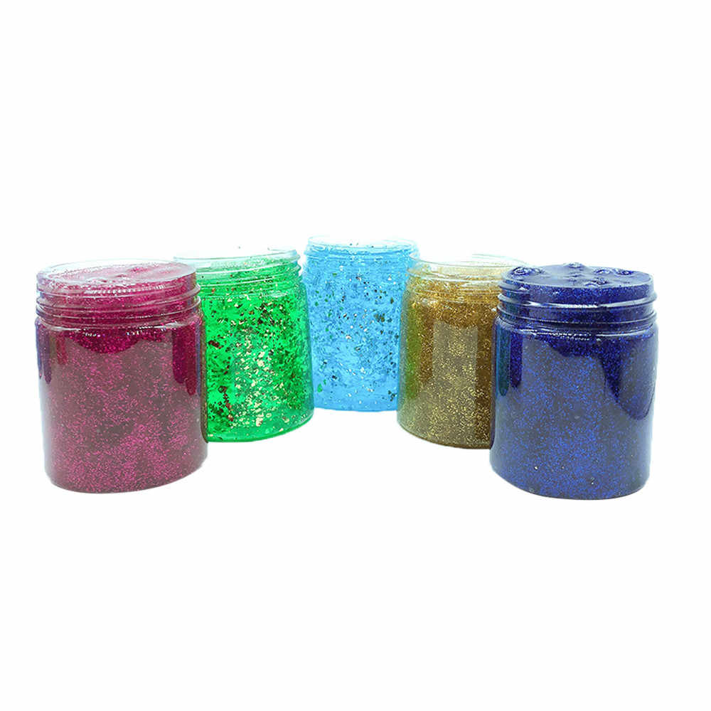 Beautiful Starry Sky Colorful Slime Putty Scented Stress Kids Clay Toy