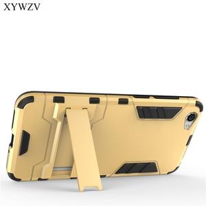 Image 2 - For Cover BBK Vivo Y55 Case Silicone Robot Hard Rubber Phone Cover Case For Vivo Y55 Cover For BBK Vivo Y55 Coque XYWZV