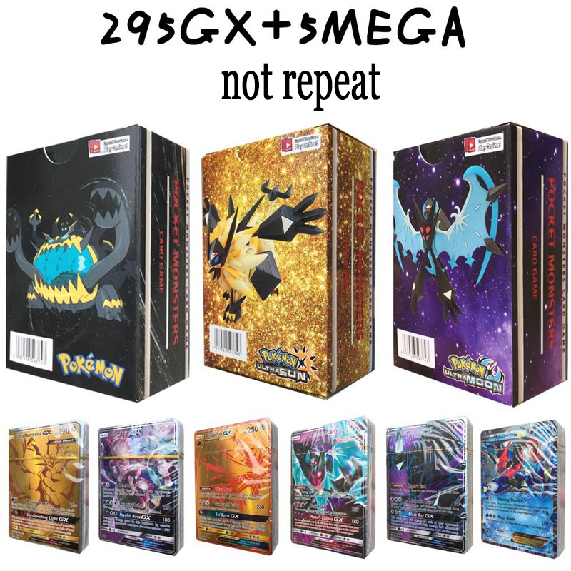 No Repeat 3box/set POKEMON Battle cartes CARDs GX Shining Game POKEMON toys set children dolls-in Action & Toy Figures from Toys & Hobbies