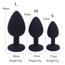 3pcs set Silicone Anal Plug Jewelry Sex Toys for Woman Prostate Massager Bullet Vibrador Butt Plug