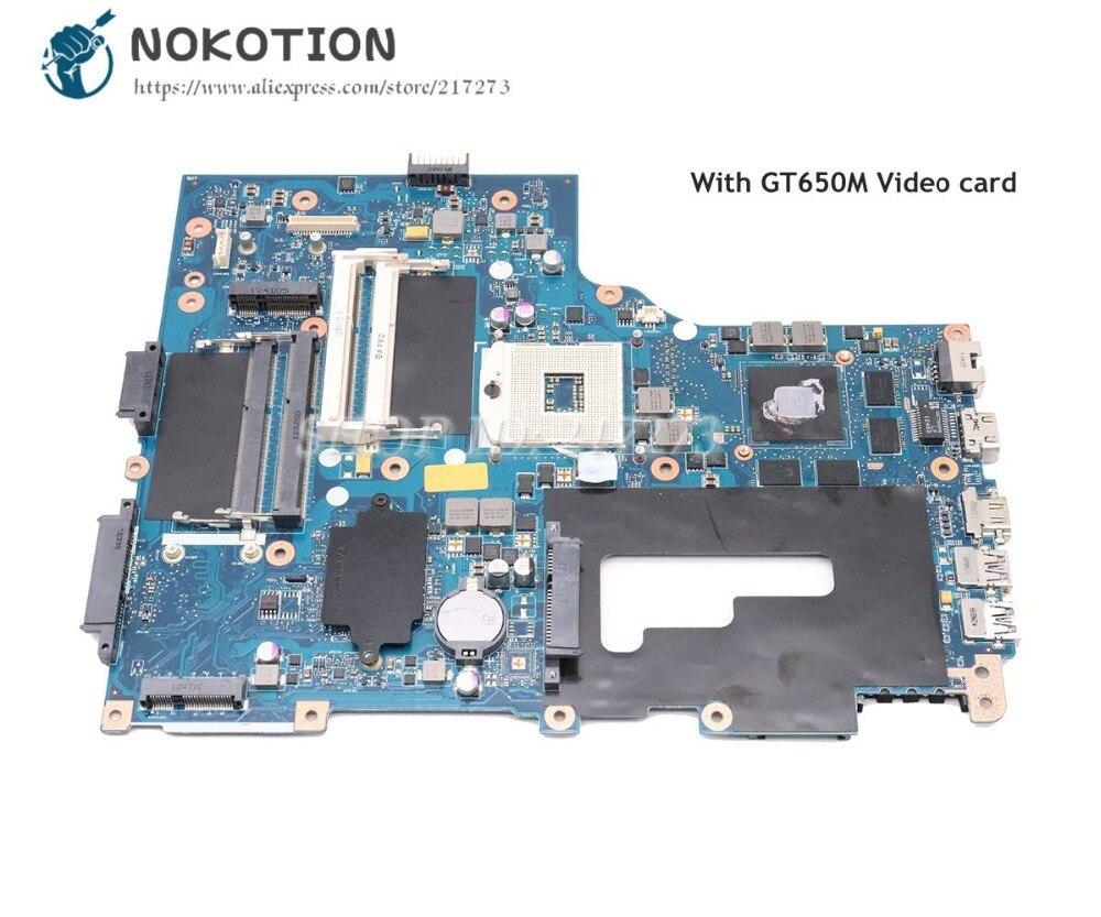 NOKOTION For Acer Aspire V3-771G Laptop Motherboard GT650M NBM0S11001 NB.M0S11.001 VA70 VG70 MAIN BOARD
