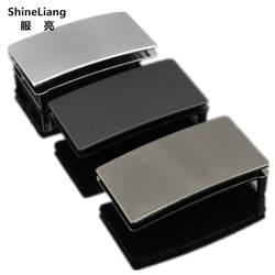 Shineliang булавки гладкой пряжки ремня для мужчин Высокое качество сплав металла адаптации ширина 3,3 см дизайнеры модный бренд пояс