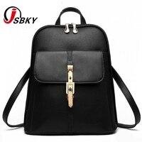 6806692afe JSBLY Brand 2017 backapck atmosphere vogue women backpacks leisure students  buckle backpacks