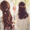 Nuevos Accesorios de moda de la hoja de las vendas diademas horquillas horquillas y mariposa regalo para muchacha de las mujeres H423