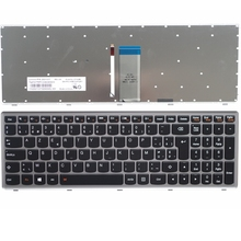 Neue tastatur für lenovo u510 u510-ifi z710 werden laptop-tastatur schwarz schlüssel silber rahmen mit hintergrundbeleuchtung