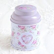 COCODE красивая коробка для хранения цветов маленькая металлическая жестяная коробка с бантиком чайная коробка для сахар, кофе Монета и хранения мелких вещей