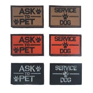 10 шт./лот, 3D вышитый нарукавник для домашних животных, проблемные нашивки, нарукавные Значки для обслуживания собак, нашивки для собак K9, наш...