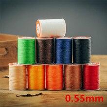 Handmade DIY leather hand stitching 0.55mm leather hand stitch round wax line nylon thread