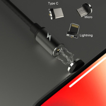 WK Magnetic USB Reversible Micro Type C IOS Cable for iPhone Samsung Xiaomi 1m Durable Charging/Dash Cord for Android USB Cable