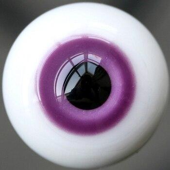 Фиолетовые стеклянные глаза 16 мм для куклы BJD