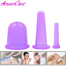 Set di 3 tazze per il corpo in Silicone con coppettazione sottovuoto per viso collo schiena occhi massaggio massaggiatore anticellulite trattamento ventosa