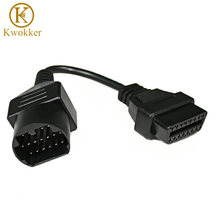 KWOKKER OBD 2 Cable for Mazda 17 Pin OBD2 OBD II Cable to 16 Pin Connector Adapter Male Cord Diagnostic Tools Extension Cable