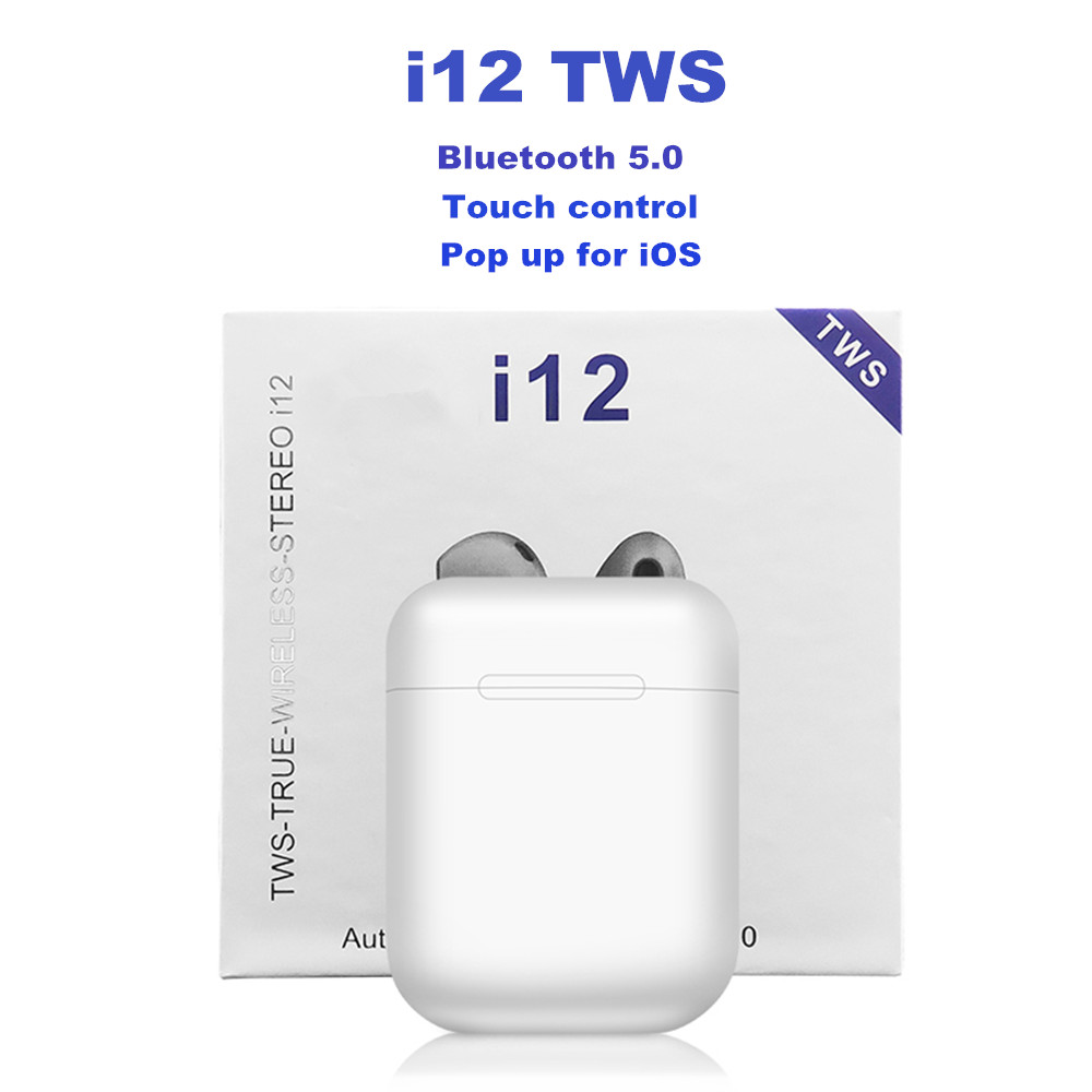 i12 <font><b>TWS</b></font> Touch control Earphones Wireless <font><b>Bluetooth</b></font> 5.0 PK Pop up fuction <font><b>i19s</b></font> i10 i20 i30 <font><b>tws</b></font> for xiaomi Huawei Drop shipping image