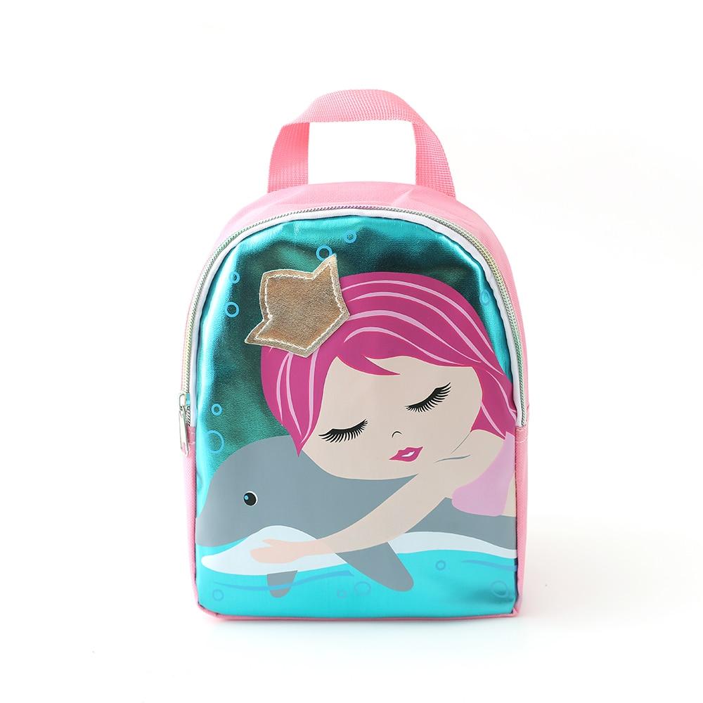 Under Nineteen Fashion Mermaid Princess Girl's School Bags Kids Backpack Children School Bag Kindergarten