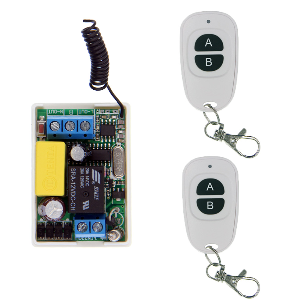 Mini Size 220V 1CH 1CH 10A Wireless Remote Control Switch Relay System 315 433 92 MHZ