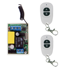 Mini Size 220V 1CH 1CH 10A Wireless Remote Control Switch Relay System,315/433.92 MHZ ( Receiver + 2X Transmitter),A=ON B=OFF