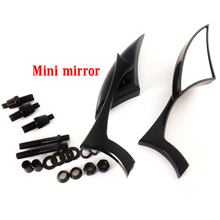 Black Blade Mini Mirror For HONDA Rebel Shadow 600 750 VTX 1300 1800 Spirit 1100 driving passing turn signals spot light bar for harley customs choppers cruiser honda vt 750 1100 vtx 1300 shadow u 1800