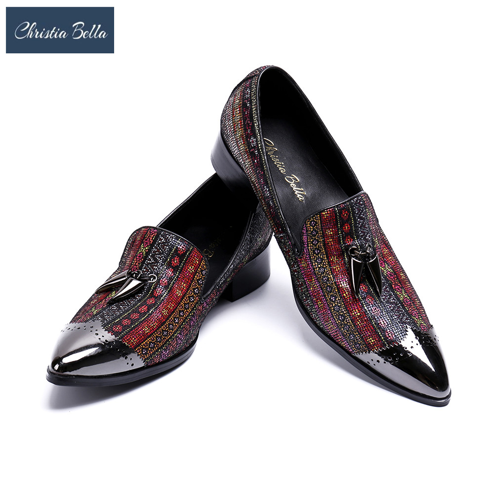 Christia Bella 2018 New Arrival Luxury Fashion Brand Designer Bling Bling Evening Party Loafers Flats Shoes for Men Plus Size 47 смеситель для кухни wasserkraft oder 6307 9060828