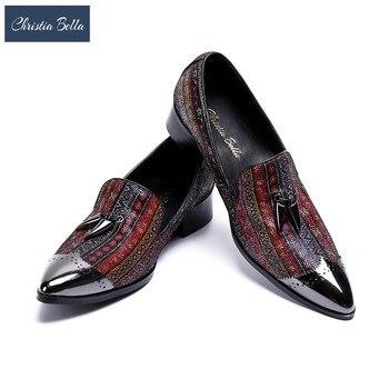 Chaussures De Soirée De Designer   Christia Bella 2018 Nouveauté Luxe Marque De Mode Designer Bling Bling Soirée Fête Mocassins Chaussures Plates Pour Hommes Grande Taille 47