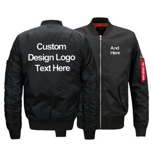 Tamanho dos eua design gratuito personalizar o logotipo dos homens bombardeiro jaquetas inverno engrossar diy personalizado casacos quente zíper jaqueta de vôo navio da gota