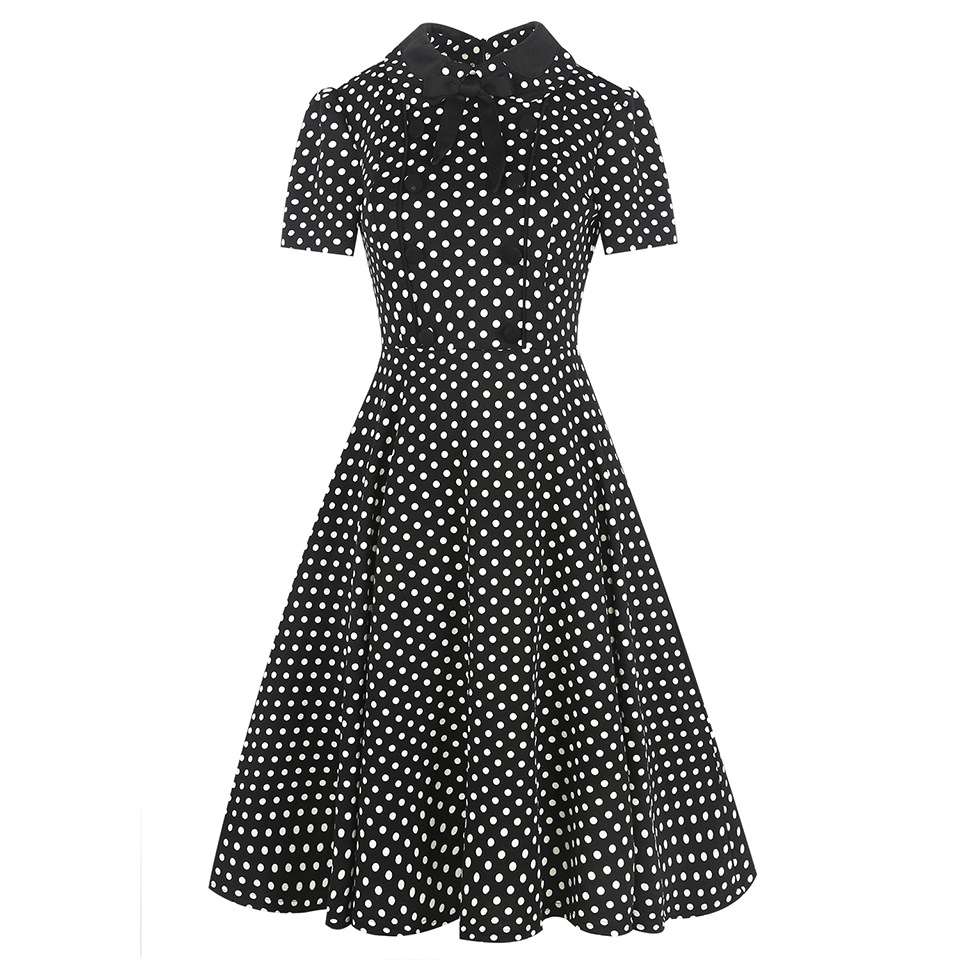 f5d31a738c0 1940s 1950s Retro Style Short Sleeve Empire Waist Elegant Plaid Pattern Pin  Up Dress Swing Dress Ball Gown -in Dresses from Women s Clothing on ...