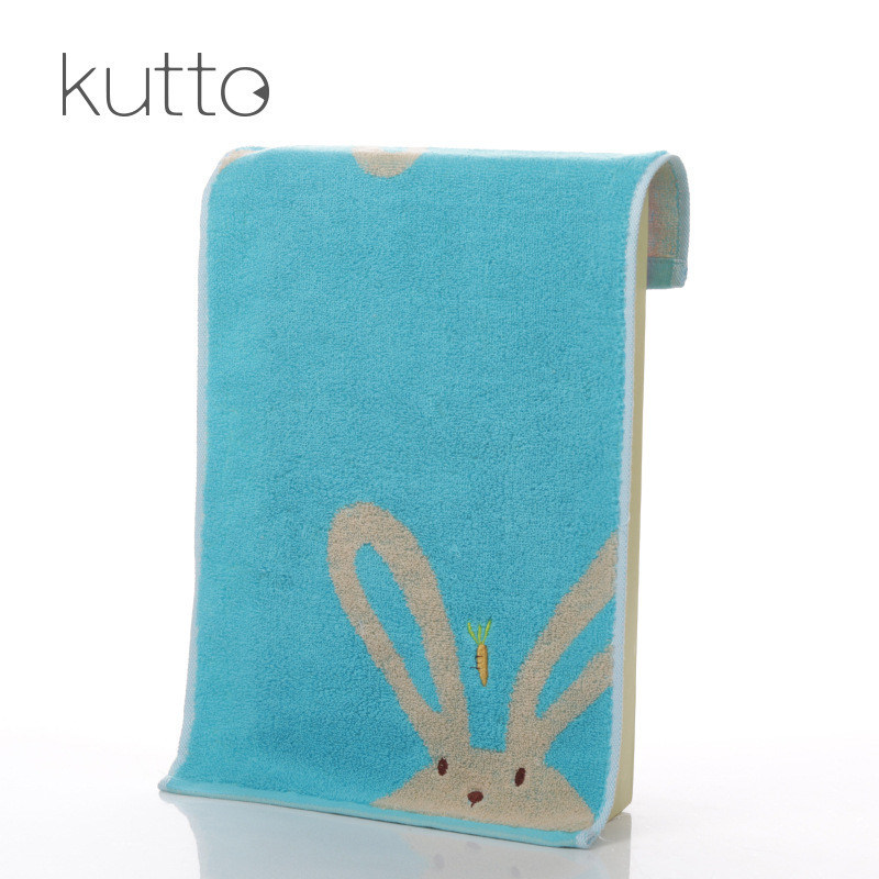 Blue Color 1PC Cartoon Cute Rabbit Face Towels Shower SPA Swimming Hair Water-Absorption Face Body Towel Quick-Dry