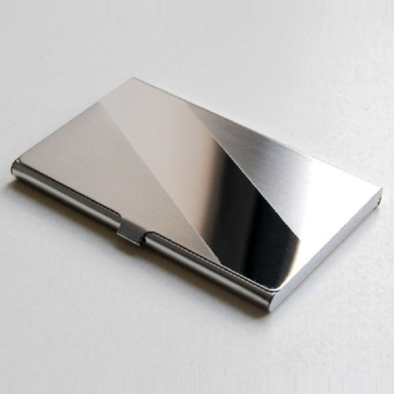 business card holder stainless steel card wallet id credit card holder women men waterproof card protector metal name cardholder in card id holders from - Metal Business Card Case